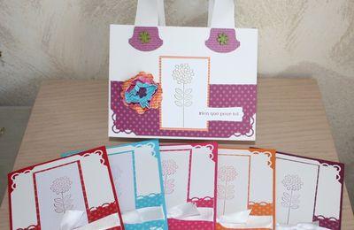 petit sac + cartes assorties