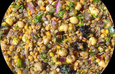Légumineuses en salade