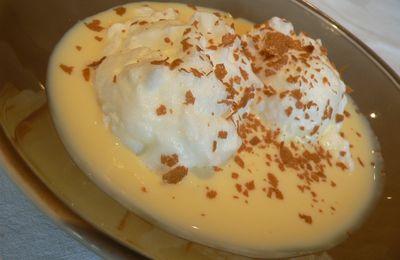 Iles flottantes, caramel au beurre salé