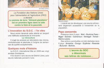 Methode innovante de lutte contre la faim : le SOC