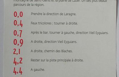 """Parcours n°3 rouge """"Château d'Arzelier"""" (Pays de Buech - 05)"""
