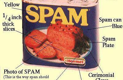 """I hate that Spam!"" - Monty Python"