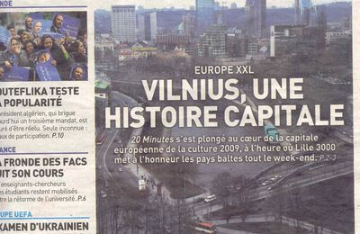 When french newpapers speack about VILNIUS