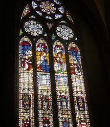 Vitrail de 1503 à la cathédrale de Toul...