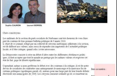 """Le bulletin trimestriel N° 4 de """"Narbonne s'éveille"""""""