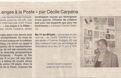 Angels at the Post Office - Article Ouest France 11 juin