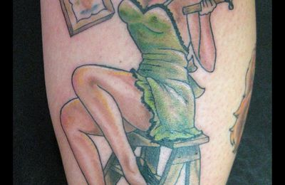 tattoos (364) : hammer pinup by elize
