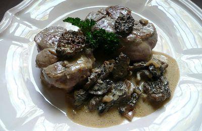 médaillons de veau aux morilles et fève de tonka