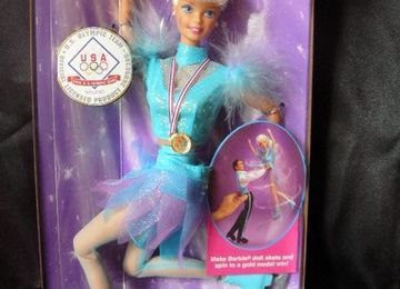 barbie olympic skatter, 1997