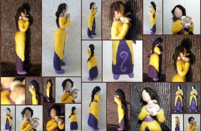 18° mannequin en laine cardée