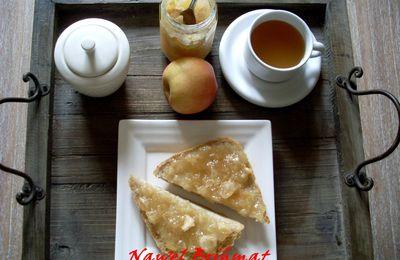 Confiture de pommes au gingembre et amandes grillées