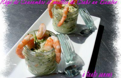 Râpé de Concombre et Miettes de Crabe au Basilic ( ultra léger)