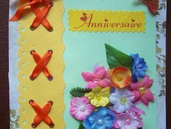 kikou et jolie carte d'anniversaire ..