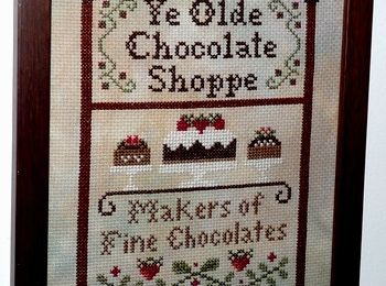 """Chocolate Shoppe"" incorniciato"