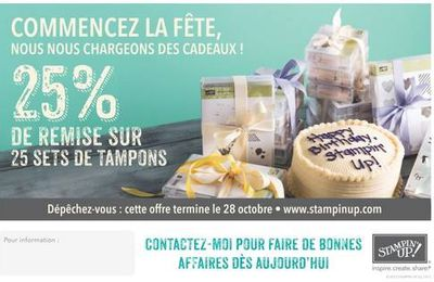 25 sets de tampons Stampin'Up! a moins 25% !!!