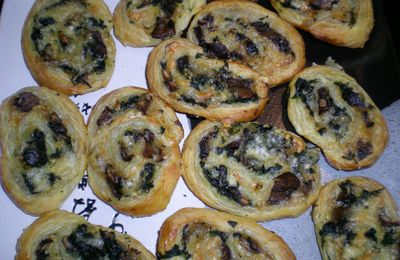 Mushrooms-spinach Swirls