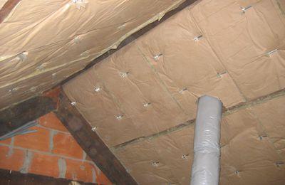 Enfin la fin... de l'isolation du toit.