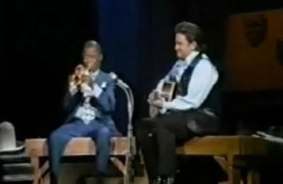 Johnny Cash & Louis Armstrong