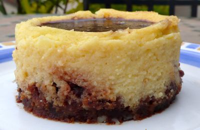 Cheesecake au chocolat blanc et gelée de Nutella... avec du lait ribot
