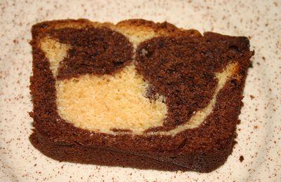 Cake marbré noir et blanc