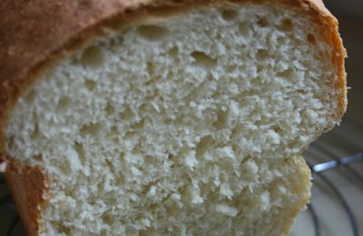 Pain de mie cuit au four