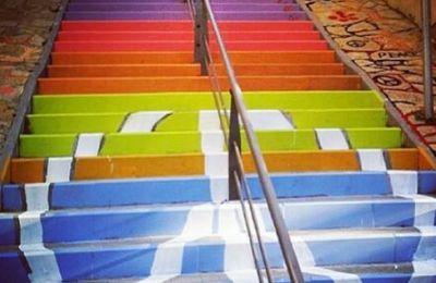 La Révolution des escaliers colorés à Istanbul : septembre multicolore.