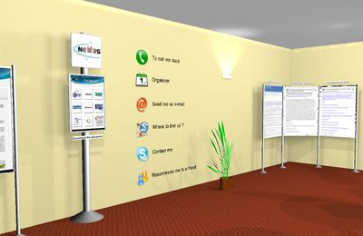 3D booths, 3D offices : Brand new list of features at the 3D-TRADE-CENTER