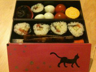 Des sushi dans le bento de zo !