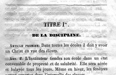 Réglement école publique de garçon - Hautes-alpes 1851