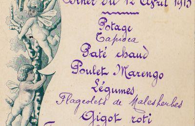 2 menus de 1912 et 1913