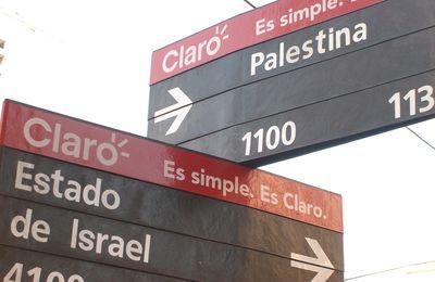 Estado de Israel y Palestina se cruzan