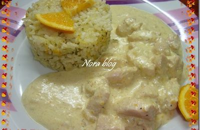 Poulet et riz à l'orange