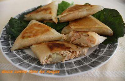 Samoussas poire, saumon, fenouil au salon du Blog Culinaire