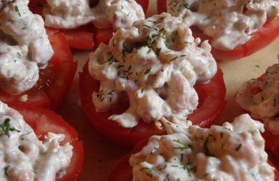Tomate aux crevettes