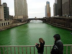 CHICAGO RIVER ON MARCH 17th