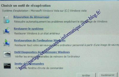 Réparation du démarrage Windows Vista