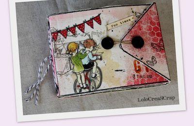 """Mini album """"Jeux d'enfants"""" Dame de Kit et L'Encre et L'image"""