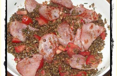 Salade de lentilles au bacon