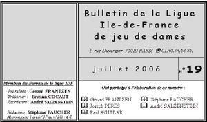 Le Bulletin de la ligue Ile de France - période 2001/2006