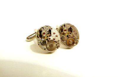 Boutons de manchettes mécanismes de montres / Watch movements cufflinks - Ex Machina#31