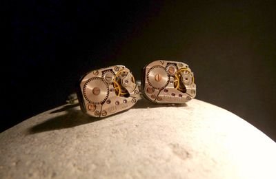 Boutons de manchettes mécanismes de montres/ Watch Movement Cufflinks - Ex Machina#25