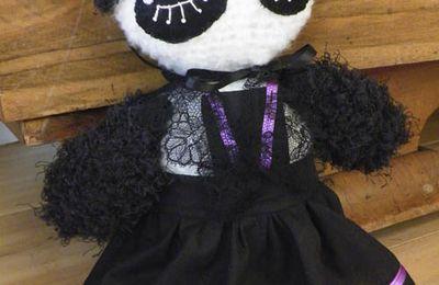 PELUCHE : Miss panda Gothic Lolita