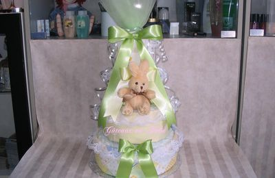 Diaper cake 4 tiers - 4 Étages Unisexe-Lapin