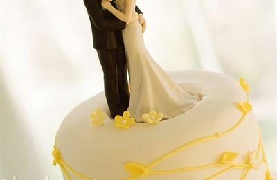 inspirations pour décorer le gâteau de mariage