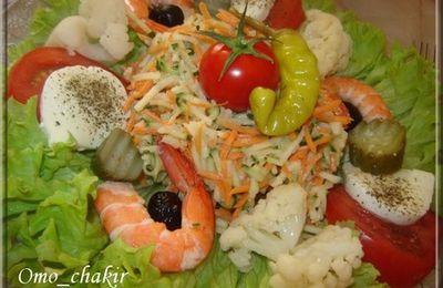Salade fraîcheur aux crevettes ...