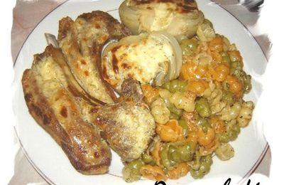 Côtelettes d'agneau au fenouil gratiné