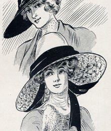TROIS CHAPEAUX DE 1912