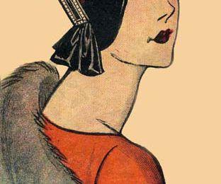1929 :un chapeau avec un bijoux