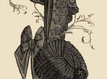 1884 : chapeaux de deuil
