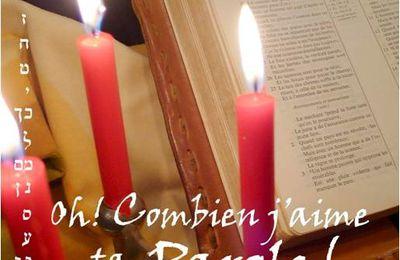 Et voici le livre : Oh combien j'aime ta parole - Etude du Psaume 119